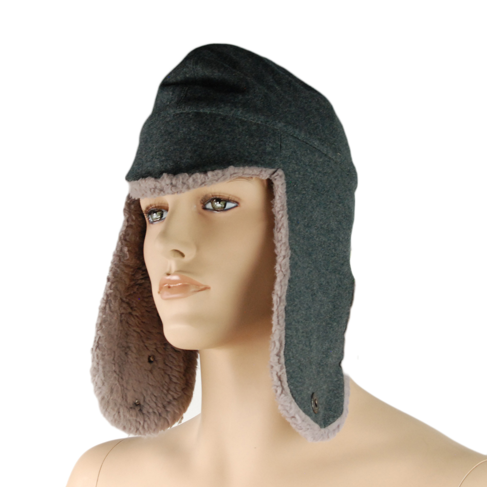 Authentic Swiss Military-Issue Men's Wool Winter Hat M/L Gray