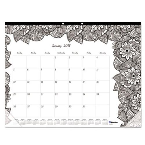 Rediform Academic Desk Pad Calendar w Coloring Pages, 22 x 17, 2016-2017 CA2917311 by Rediform