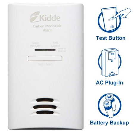 KNCOB-DP2 Tamper Resistant Plug-In Carbon Monoxide Alarm with Battery Backup, Tamper Resist Feature : Unit alerts you if it has been unplugged or has.., By Kidde