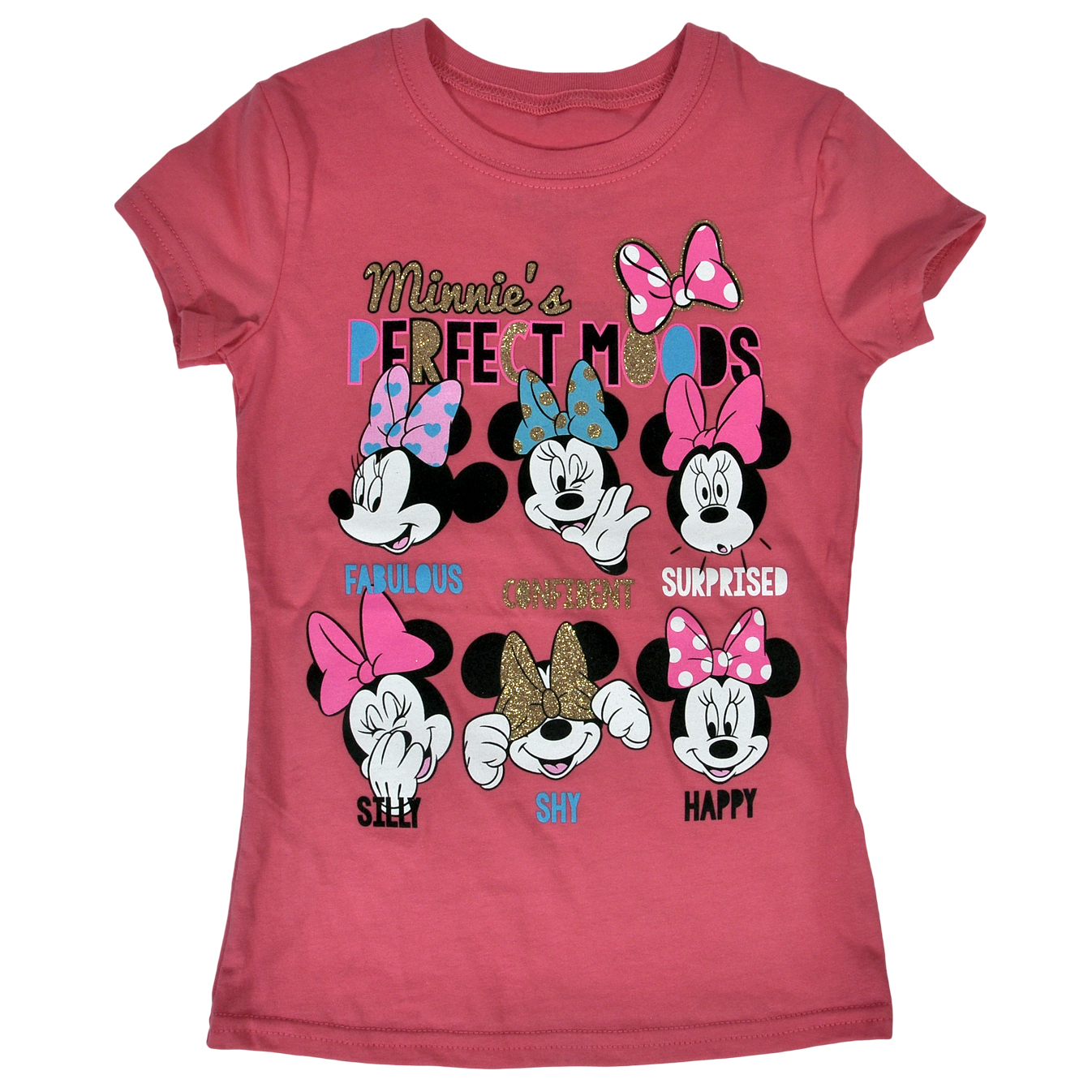 Minnie Mouse Perfect Moods Girls T-Shirt Pink
