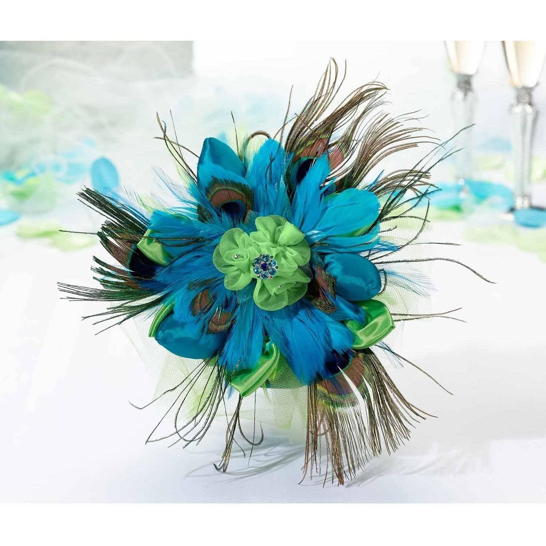 Lillian Rose Peacock Wedding Bouquet