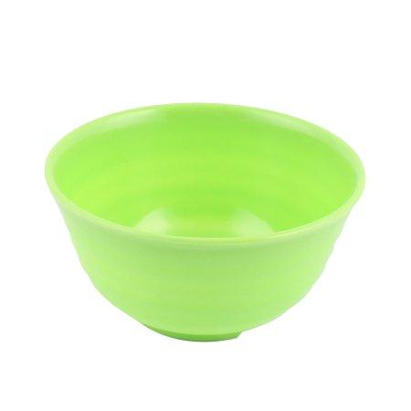 Household Kitchenware Plastic Screw Thread Design Rice Soup Noodles Bowl - Green Plastic Bowls