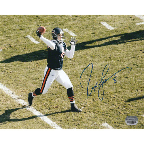 NFL - Rex Grossman Chicago Bears - Passing Action - Autographed 8x10 Photograph