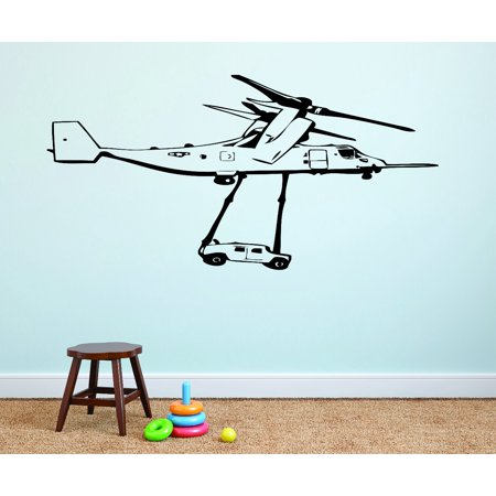 Wall Design Pieces Army War Rescue Airplane Silhouette 12x18
