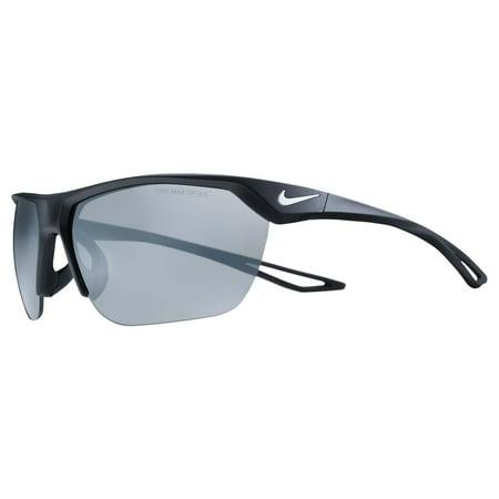 Nike Interchange Sunglasses (Nike Vision Trainer S Mtt Black/White Grey W Silver Mirror)