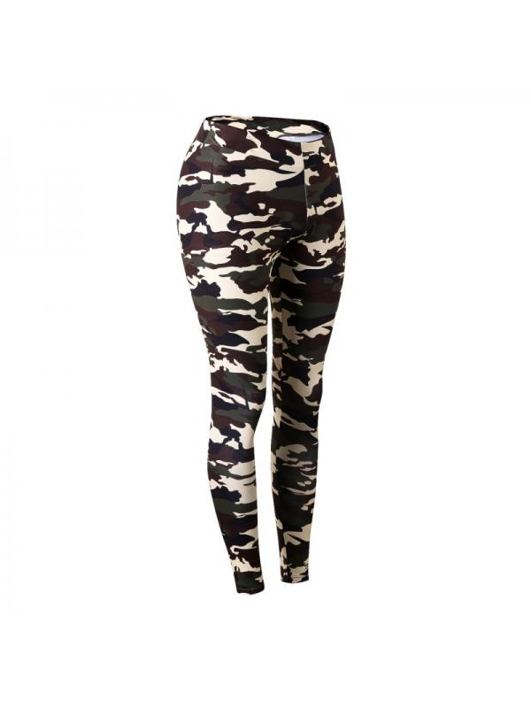 Ropalia Women Sports Gym Yoga Fitness Pants Elastic Camouflage Sweatpants Trousers