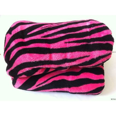 Queen Zebra Fleece Blanket Black Pink Soft Plush Animal