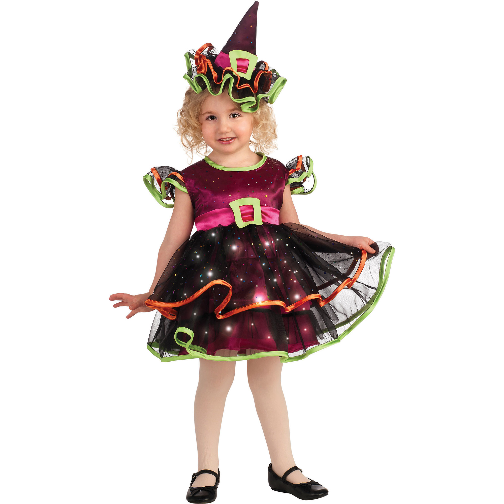 Light Up Confetti Witch Toddler Halloween Costume  sc 1 st  Walmart & Light Up Confetti Witch Toddler Halloween Costume - Walmart.com