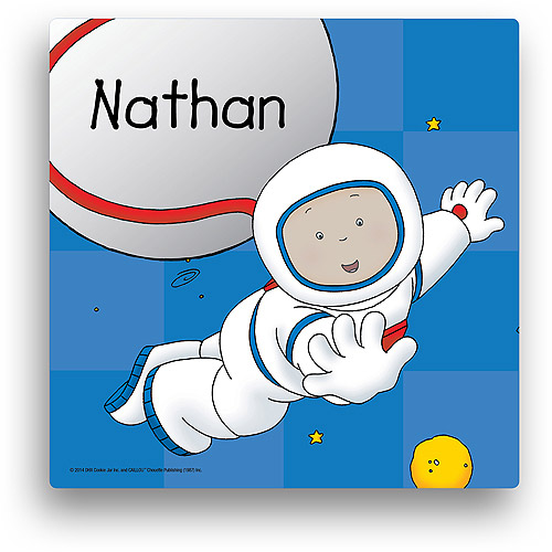 Personalized Caillou Explore 12' x 12' Canvas Wall Art
