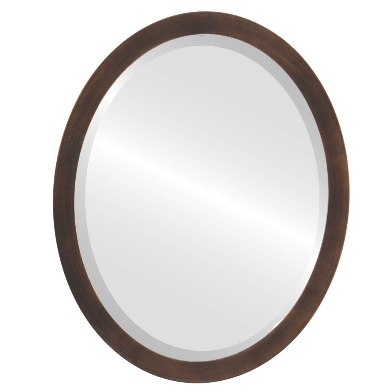 The Oval and Round Mirror Store Manhattan Framed Antique Bronze Oval Mirror by Overstock