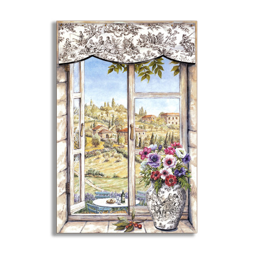 Stupell Industries Countryside and Vase Faux Window Scene Wall Plaque
