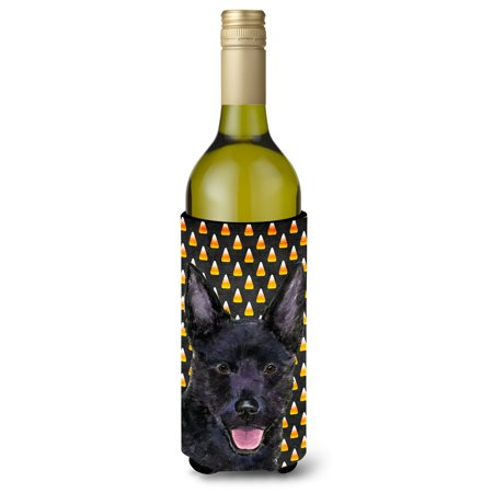 Halloween In Australia (Australian Kelpie Candy Corn Halloween Portrait Ultra Beverage Insulators for slim cans)