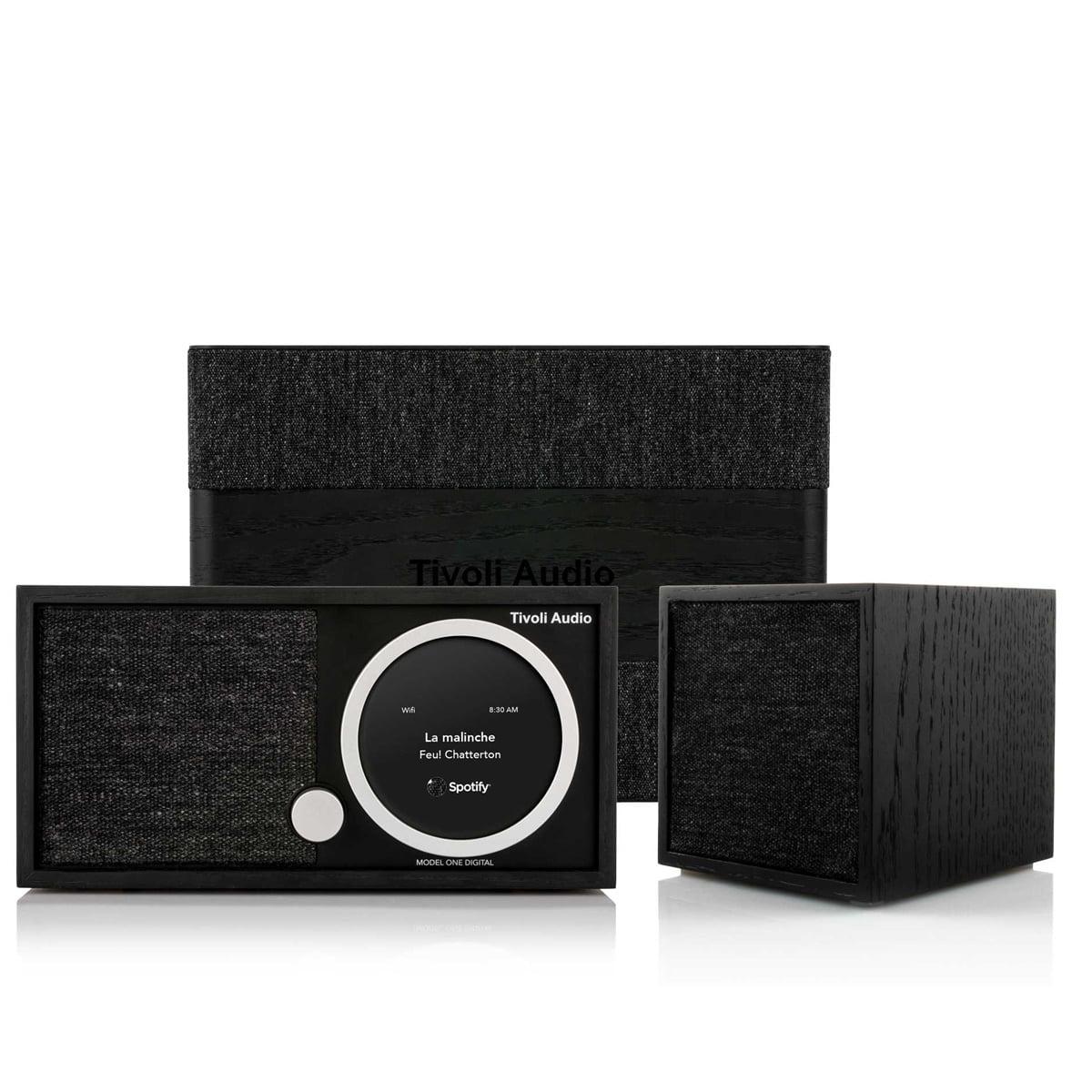 Tivoli Audio Model One Digital FM Wi-Fi Bluetooth Radio with CUBE Wireless Speaker and ART Model Sub Wi-Fi Subwoofer by Tivoli Audio