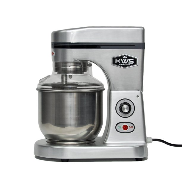 KWS M-B5 Commercial 575W Stand food Mixer, 5 Quarts Silver Heavy-Duty for Restaurant/Bakery /Tea Shop/Coffee Shop
