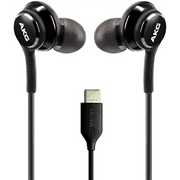 OEM UrbanX 2021 Stereo Headphones for Samsung Galaxy S20 Ultra 5G Braided Cable - Designed by AKG - with Microphone (Black) USB-C Connector (US Version with Warranty)