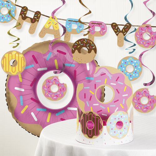 The Party Aisle Donut Time Birthday Party Decoration Kit