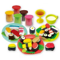 FAGINEY Funny Kid DIY Simulation Sushi Color Clay Mold Modeling Toy Sculpture Educational Tool Set,Modeling Clay Toy,Clay Mold Toy