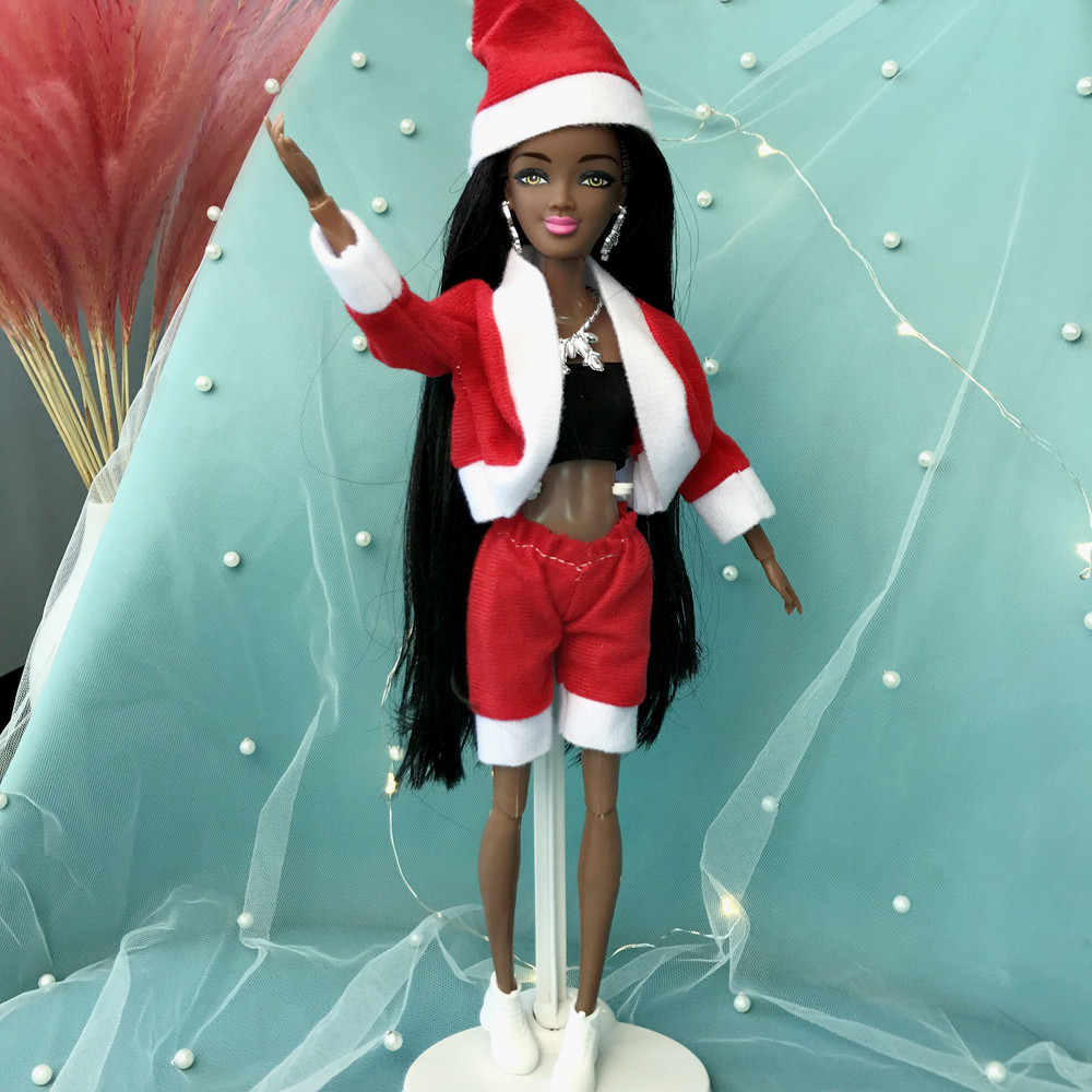Baby Girl Movable Joint African Doll Toy Black Doll Best Gift Toy Christmas Gift