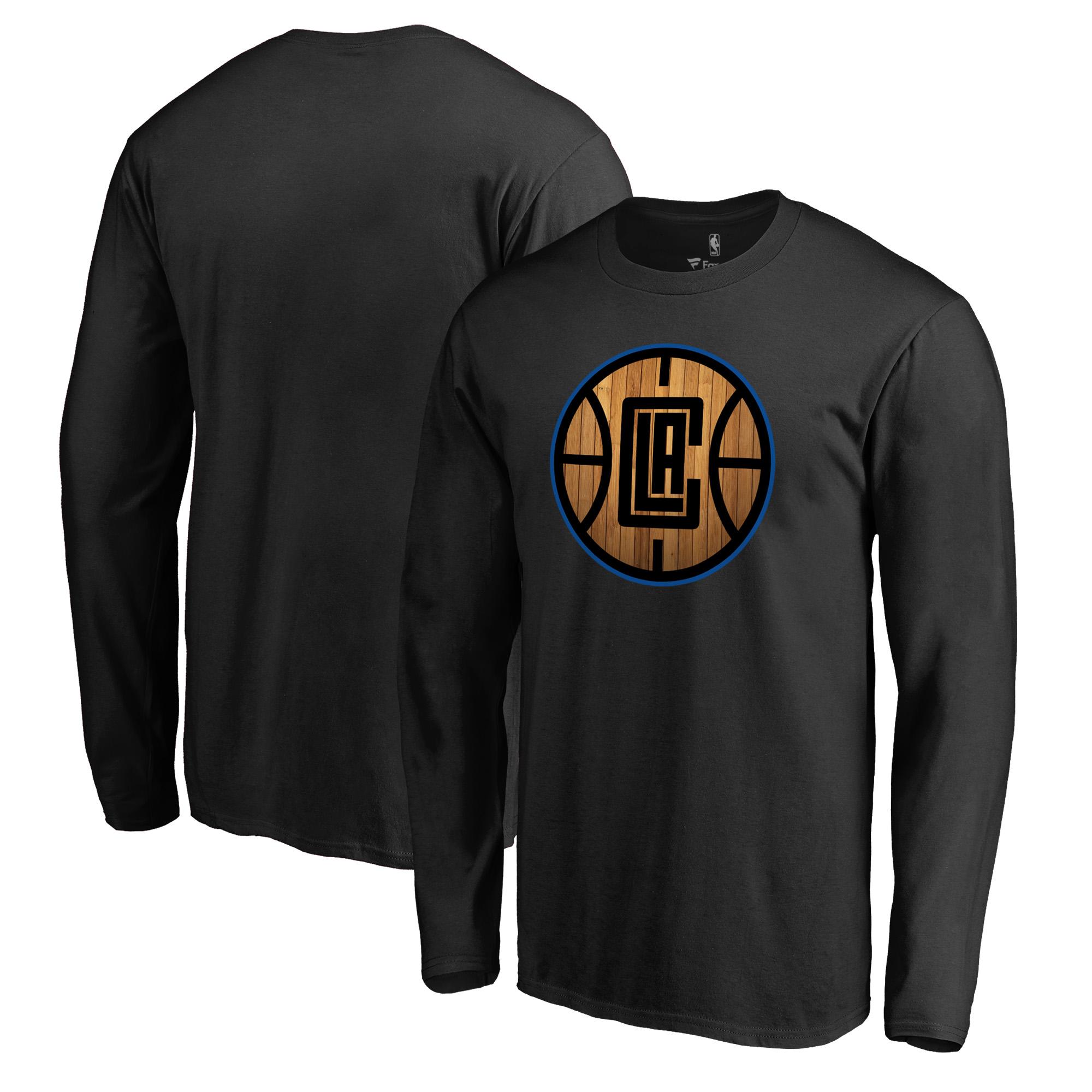 LA Clippers Fanatics Branded Hardwood Long Sleeve T-Shirt - Black