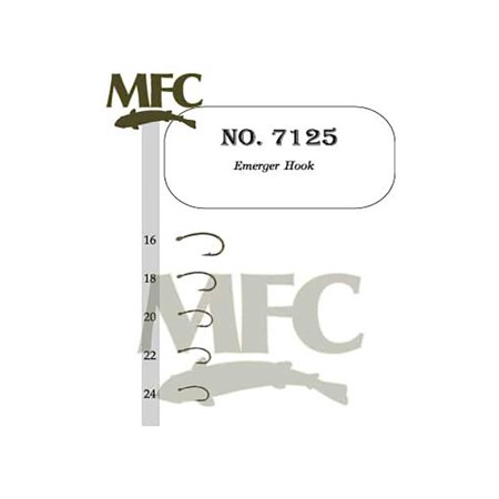 Company Emerger Hook 7125 - Size 20 - 25 Pack, By Montana Fly