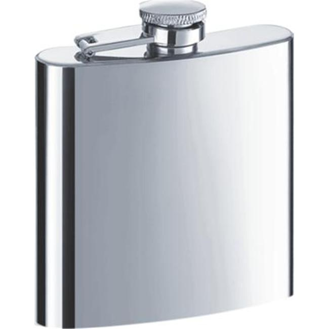 Visol VF1148 Shiner Premium Polished Stainless Steel 6oz Hip Flask