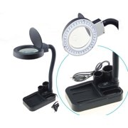 Magnifying Crafts Glass Desk Lamp 5X 10X Magnifier With 40 LED Lights Practical Description:
