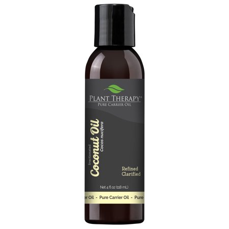 Plant Therapy Essential Oil | Fractionated Coconut Oil For Skin, Hair, Body | 100% Pure, Natural Moisturizer | 4