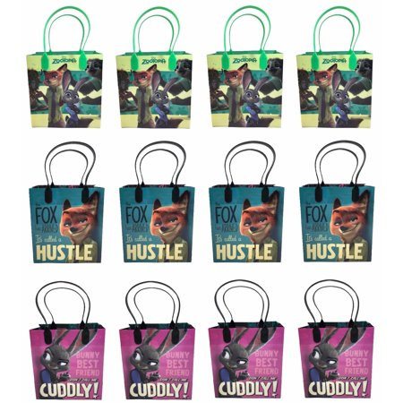 Disney Zootopia 12 Pcs Goodie Bags Party Favor Bags Gift Bags Birthday Bags