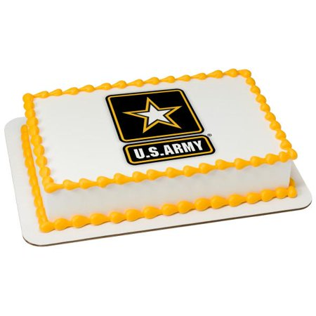 U.S. Army Edible Cake 1/4 Sheet Topper Image