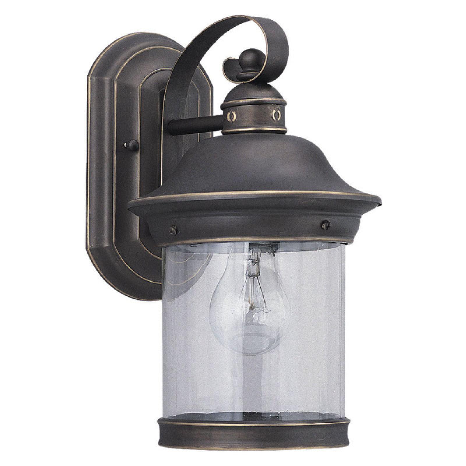 Sea Gull Hermitage Outdoor Wall Lantern - 13.5H in. Antique Bronze