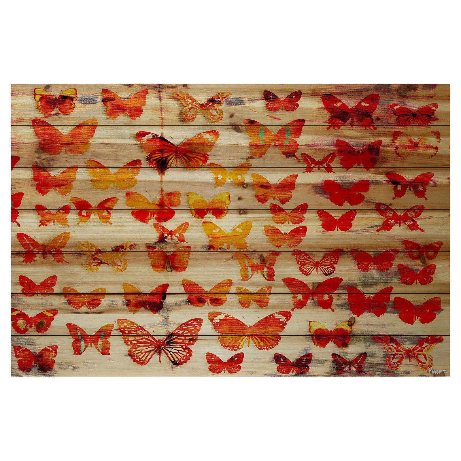 Parvez Taj Cheerful Painting Print on Natural Pine Wood