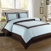 Luxury Soft Hotel 100% Cotton 300 Thread Count Duvet Cover Set - Twin/Twin XL - Blue