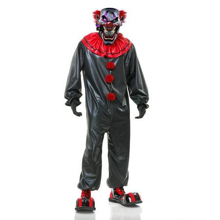 Halloween Men's Smokin Joe The Evil Clown Adult (Men's Average Joes Costume)