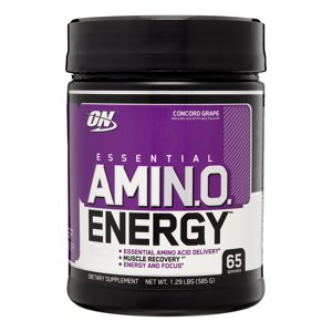 Optimum Nutrition Amino Energy Pre Workout + Essential Amino Acids Powder, Concord Grape, 65 Servings