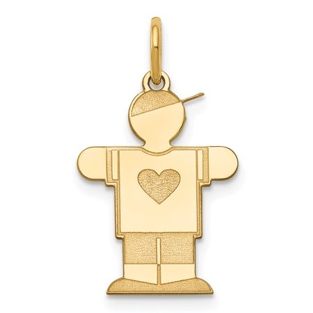 14k Yellow Gold Kid Pendant Charm Necklace Fine Jewelry For Women Gift Set 14k Gold Gymnastics Charm