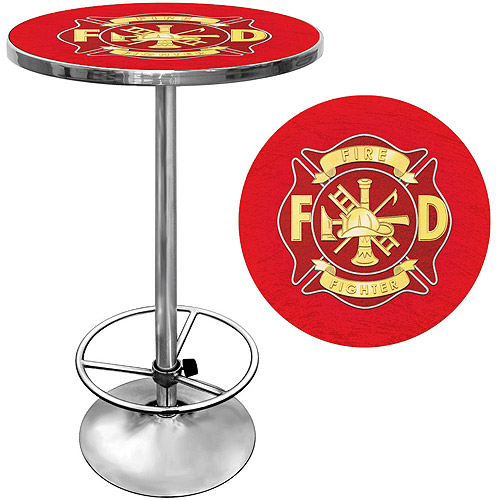 "Trademark Fire Fighter 42"" Pub Table, Chrome"