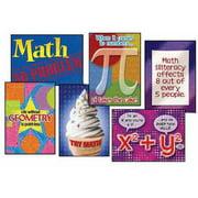 "Trend Enterprises Math Matters Poster Combo Pack, 13.37"" x 19"", Set of 6, Assorted Designs"
