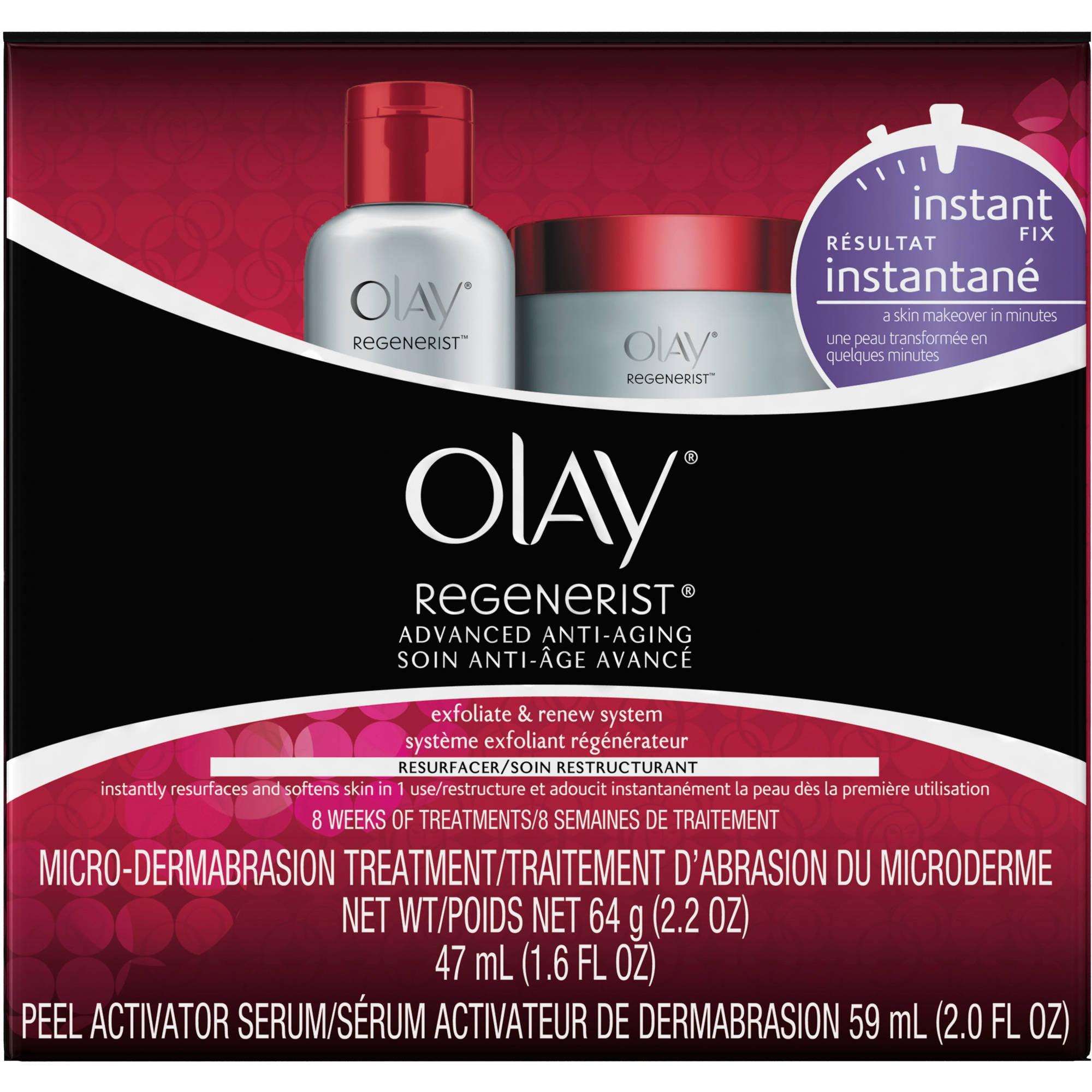 Olay Regenerist Microdermabrasion & Peel System Microdermabrasion Facial Treatment 1 Kit