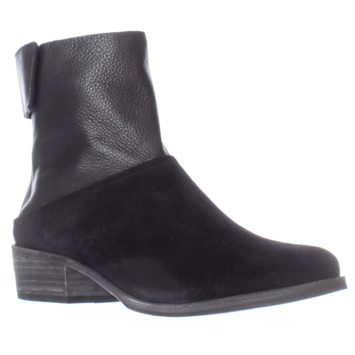 Womens A7EIJE Steiner Ankle Flat Casual Ankle Steiner Boots, Black 4c93eb