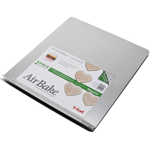 "T-Fal AirBake Natural 2-Pack Cookie Sheet Set, 16"" x 14"""