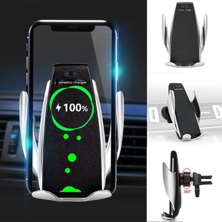 10W Qi Fast Wireless Car Charger Mount, Auto-Clamping Adjustable Infrared Sensor Charging Pad Phone Holder for Samsung Galaxy Note 9/8/ S9/ S8,iPhone Xs Max/XR/X 8/8