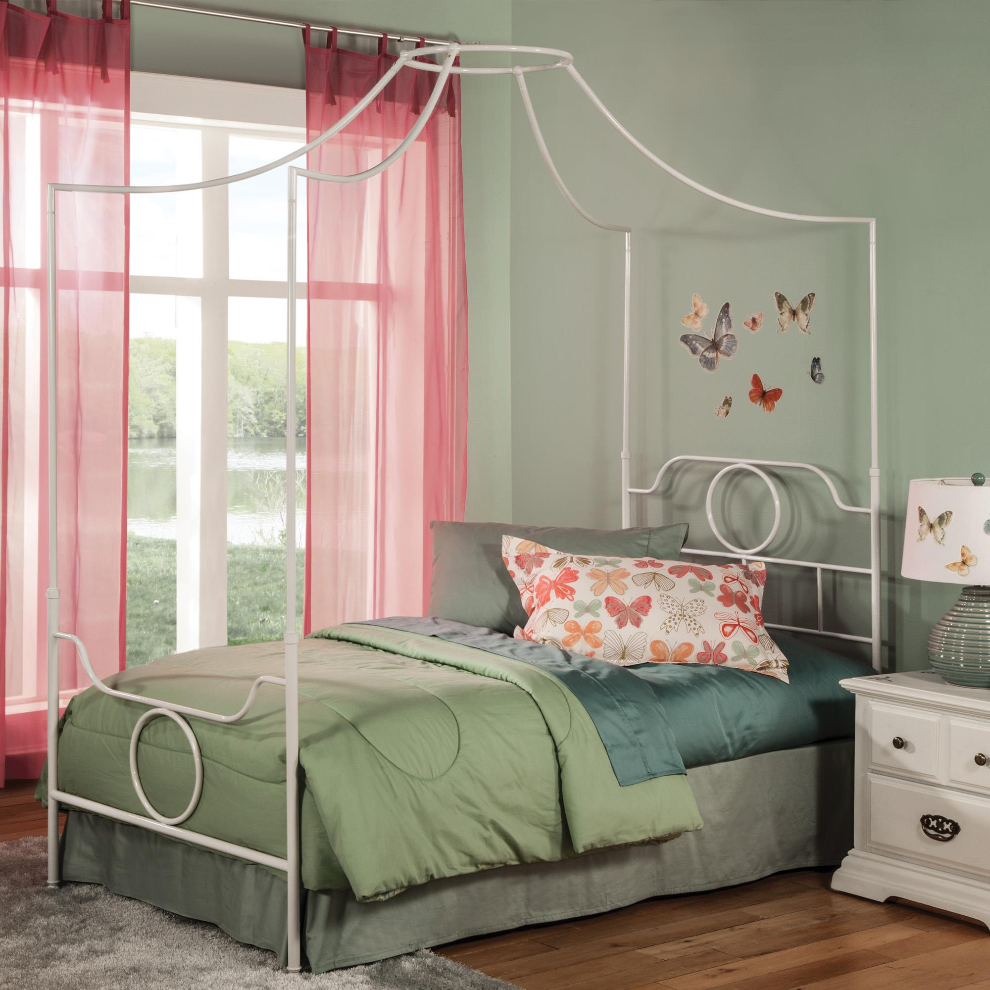 Emsworth Kids Metal Canopy Bed with Geometric Shape Design by Fashion Bed Group