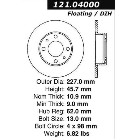Auto Parts Rotors - CENTRIC PARTS - BR3422 ROTOR