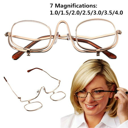 3 Colors Reading Glass Magnifying Glasses Makeup Folding Eyeglasses Cosmetic General Apparel Accessories