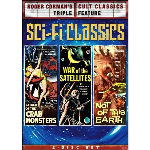Roger Corman's Cult Classics Triple Feature: Sci Fi Classics - Attack Of The Crab Monsters / War Of The Satellites / Not Of This Earth (Full Frame, Widescreen)