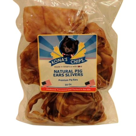 KONA'S CHIPS PIG EARS SLIVERS for Dogs. Made in the USA only, High Protein, Single Ingredient, All Natural, Nutritious, Grain Free, Fully Digestible Treat. 1 LB](Nutritious Halloween Treats)