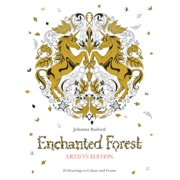 Enchanted Forest Artist's Edition : 20 Drawings to Color and Frame