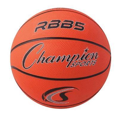 Mini Rubber Basketball, Orange, Set of 3