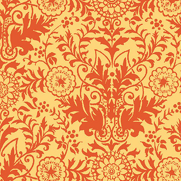 Quilting Treasures Ellery Lyla Damask Gold and Orange