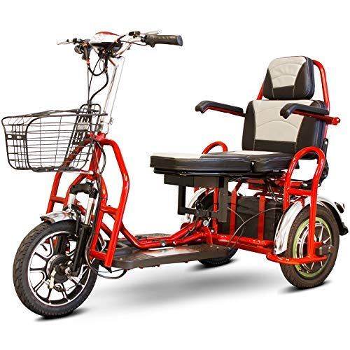 eWheels Folding Bariatric Scooter in Red
